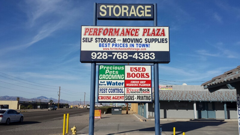 Main Sign Performance Self Storage and Retail Plaza