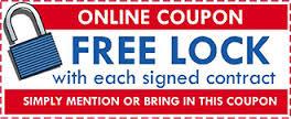 free lock, coupon
