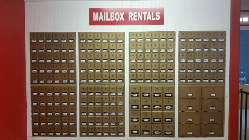 NOW RENTING MAILBOXES!